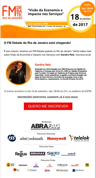 O FM Debate Rio está chegando garanta sua inscrição